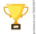 Goblet on pedestal to rewarding sport winner 76063997