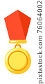 Reward with red ribbon, order insignia icon 76064002