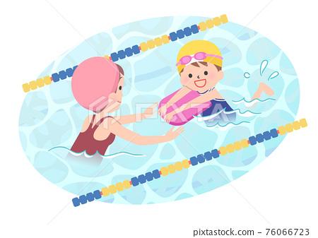 游泳 水池 踢板 76066723