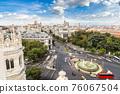 Cibeles fountain at Plaza de Cibeles in Madrid 76067504