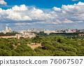 Skyline view of Madrid, Spain 76067507