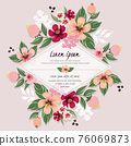 Vector illustration of a floral frame in spring for Wedding, anniversary, birthday and party. Design for banner, poster, card, invitation and scrapbook 76069873