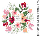 Vector illustration of a floral frame in spring for Wedding, anniversary, birthday and party. Design for banner, poster, card, invitation and scrapbook 76069875