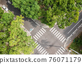 aerial view of street intersection 76071179
