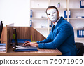 Young male employee wearing mask in the office 76071909