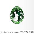 Illustration of Easter day 76074890
