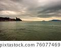 Seascape and Lerici town in Winter - Tourist Resort in the Gulf of La Spezia Liguria Italy 76077469