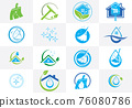 Cleaning Service Business logo design. Vector Icon Set 76080786