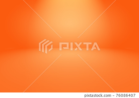Abstract Orange background layout design,studio,room, web template ,Business report with smooth circle gradient color. 76086407