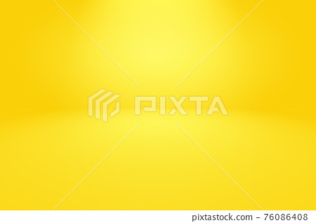 Magic abstract soft colors of shining yellow gradient studio background. 76086408