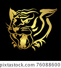 Face tiger with golden paint border 76088600