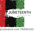 Vector. Template poster with hand draw Juneteenth Freedom Day 76090162