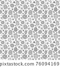 Easter background with eggs and flowers. Wrapping paper concept. Vector 76094169
