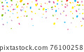 confetti, ticker tape, vector 76100258