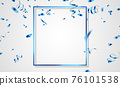 blue celebration frame background. blue confetti glitters for event and holiday poster. singles super sale 76101538