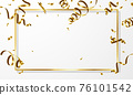 Celebration background template with confetti gold ribbons. luxury greeting rich card. 76101542