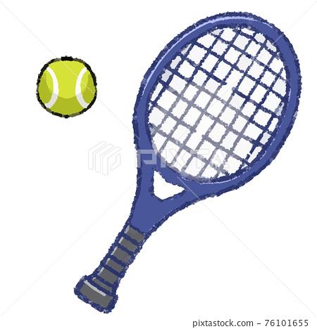테니스 라켓과 테니스 공 76101655