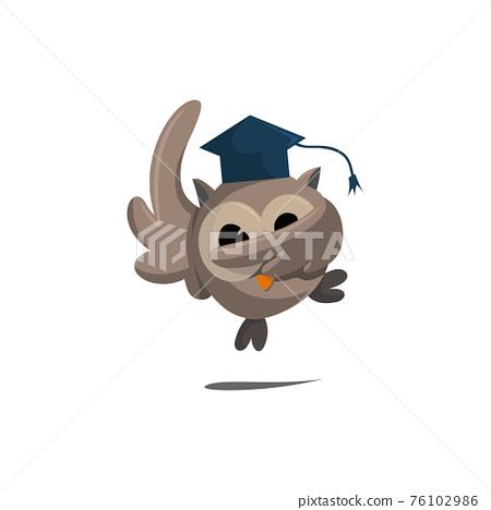Owl bird template design Smart Education with Owl Symbol 76102986