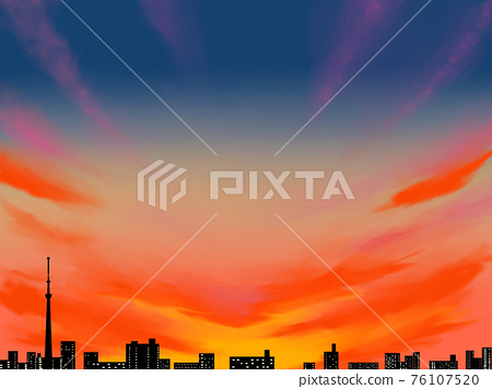 黃昏 日落 夕陽 76107520