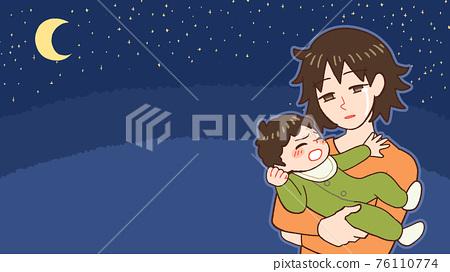 밤 울음 아기, 산후 우울증 엄마 76110774