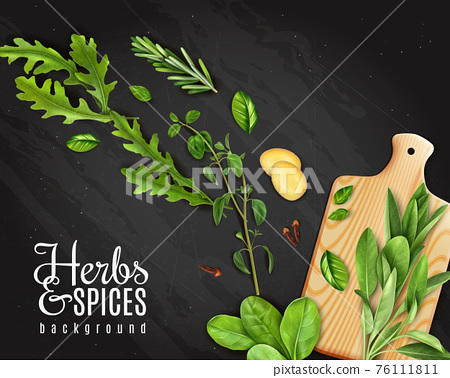 Realistic Herbs Chalkboard 76111811