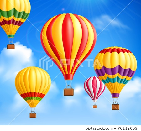 Hot Air Balloons Background 76112009