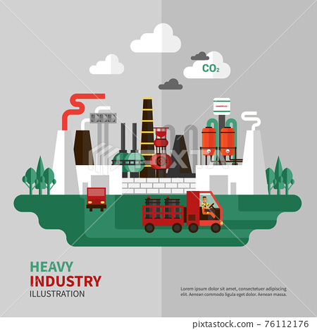 Heavy Industry Illustration 76112176