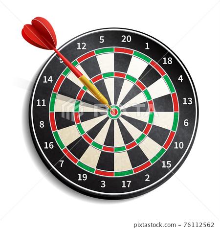 Dart Board Realistic 76112562