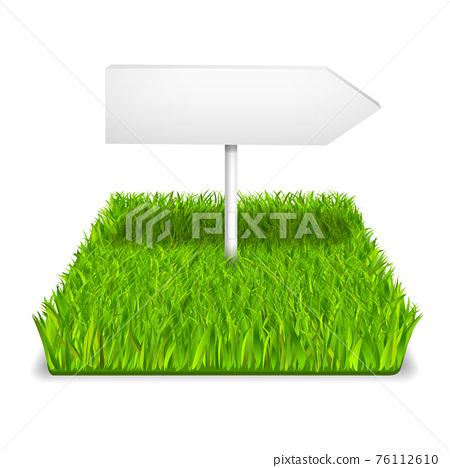 green grass arrow 76112610