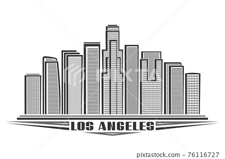 Vector illustration of Los Angeles 76116727