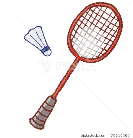 Badminton racket and feathers 76119306