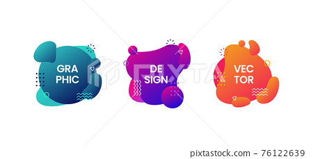 Set of abstract modern graphic elements 76122639