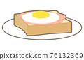 Ham Egg Toast 76132369