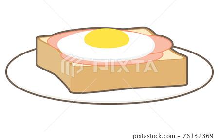 햄 달걀 토스트 76132369