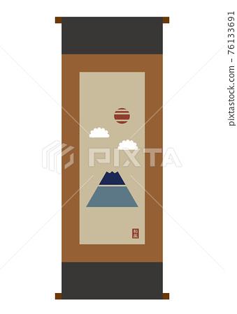 Illustration of hanging scroll 76133691