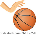 籃球 矢量 籃子 76135258
