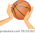 籃球 手 矢量 76135263