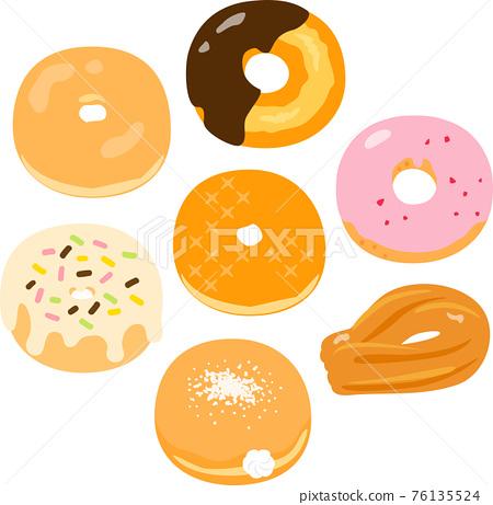 甜甜圈 一套 點心 76135524