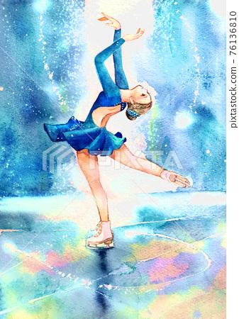 花式溜冰 女生 女孩 76136810