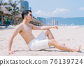 Man, sea, summer 76139724
