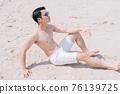 Man, sea, summer 76139725