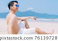 Man, sea, summer 76139728
