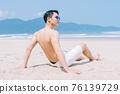 Man, sea, summer 76139729