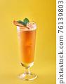 Cold and refreshing summer grapefruit cocktail or mocktail garnished 76139803