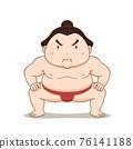 Cartoon character of Sumo wrestler. 76141188