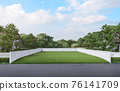 Empty land with a green lawn 3d render 76141709