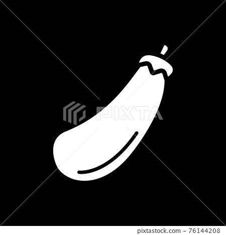 Eggplant dark mode glyph icon 76144208