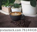 coffee cup latte art 76144436