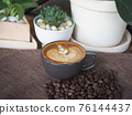 coffee cup latte art 76144437