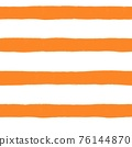 Abstract painted lines seamless background. Orange brown golden stripes wavy brush stroke lines 76144870